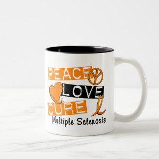 Peace Love Cure Multiple Sclerosis MS Two-Tone Coffee Mug