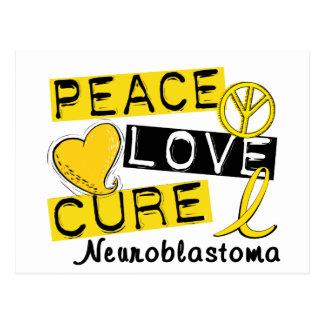Peace Love Cure Neuroblastoma Postcard