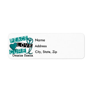 Peace Love Cure Ovarian Cancer Return Address Label