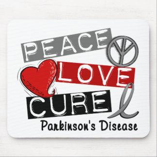 PEACE LOVE CURE PARKINSONS DISEASE MOUSE PAD