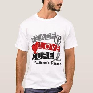 PEACE LOVE CURE PARKINSONS DISEASE T-Shirt