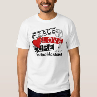 Peace Love Cure Retinoblastoma T-shirts