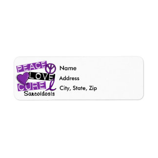 Peace Love Cure Sarcoidosis Return Address Label