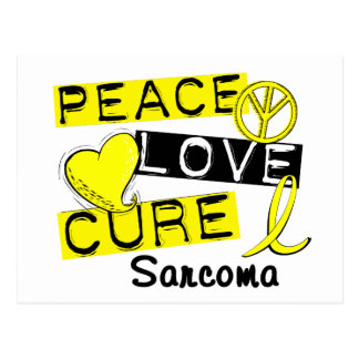 Peace Love Cure Sarcoma Postcard