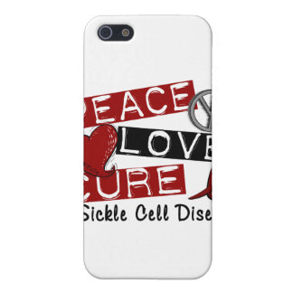 Peace Love Cure Sickle Cell Disease Case For iPhone 5
