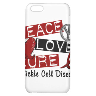 Peace Love Cure Sickle Cell Disease iPhone 5C Covers