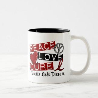 Peace Love Cure Sickle Cell Disease Mugs