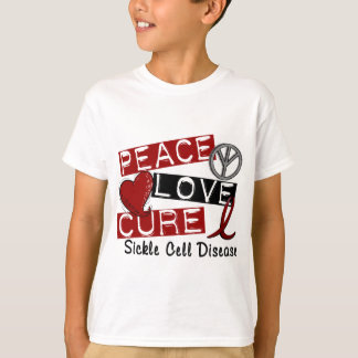 Peace Love Cure Sickle Cell Disease T-Shirt