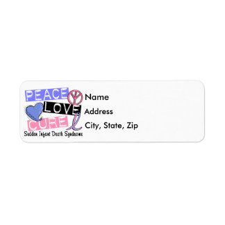 Peace Love Cure SIDS Sudden Infant Death Syndrome Return Address Label