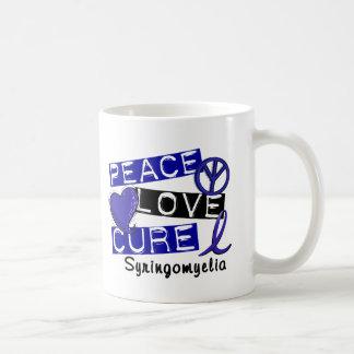 Peace Love Cure Syringomyelia Basic White Mug