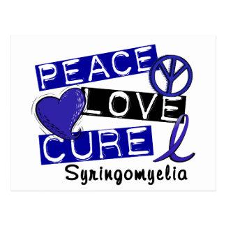 Peace Love Cure Syringomyelia Postcard