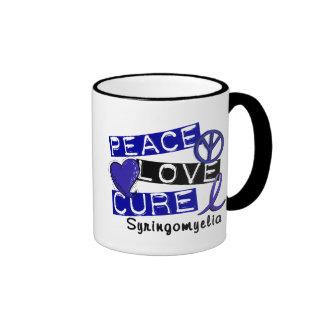 Peace Love Cure Syringomyelia Ringer Mug