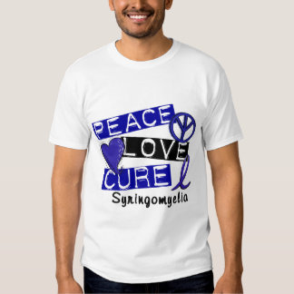 Peace Love Cure Syringomyelia T-shirts