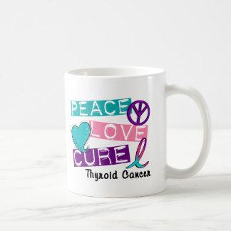 PEACE LOVE CURE Thyroid Cancer 1 Coffee Mug