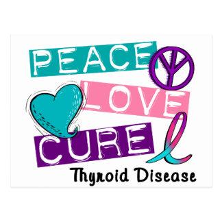 PEACE LOVE CURE Thyroid Disease Shirts & Gifts Postcard