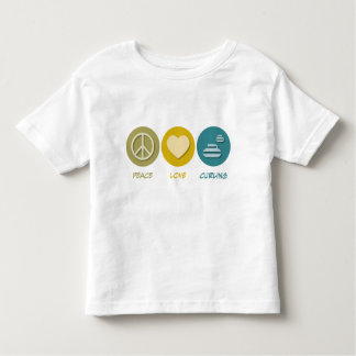 Peace Love Curling Toddler T-Shirt
