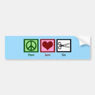 Peace Love Cut Bumper Sticker