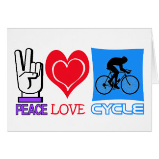 PEACE LOVE CYCLE GREETING CARD