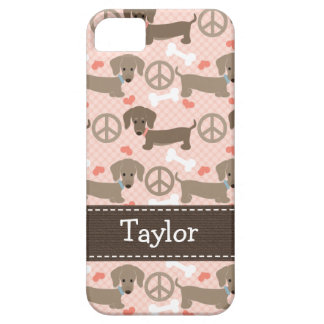 Peace Love Dachshund Doxies Barely There iPhone 5 Case