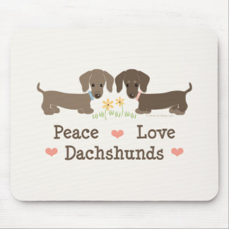 Peace Love Dachshunds Mousepad