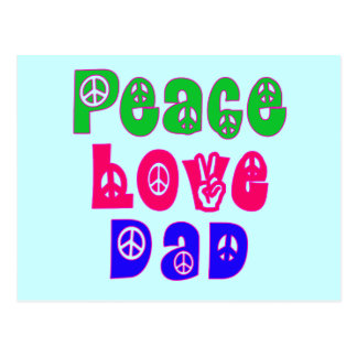 Peace Love Dad Gifts Postcard