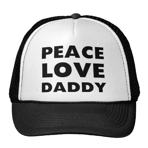 Peace Love Daddy Mesh Hat