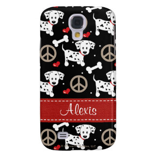 Peace Love Dalmatian  Galaxy S4 Case