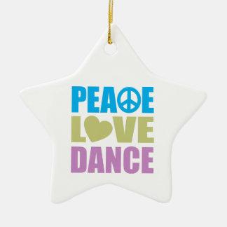 Peace Love Dance Christmas Ornament