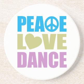 Peace Love Dance Coasters