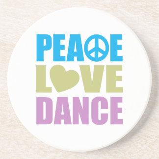 Peace Love Dance Drink Coaster