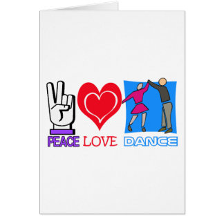 PEACE LOVE DANCE GREETING CARDS