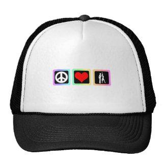 Peace love dance hat