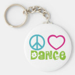 Peace Love Dance Keychains