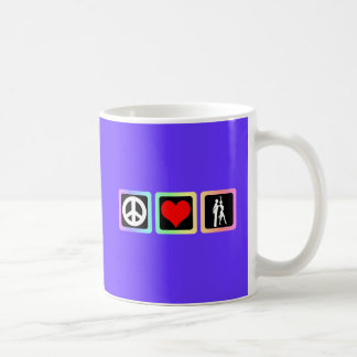 Peace love dance mug