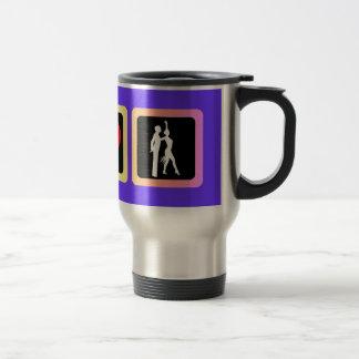 Peace love dance mugs