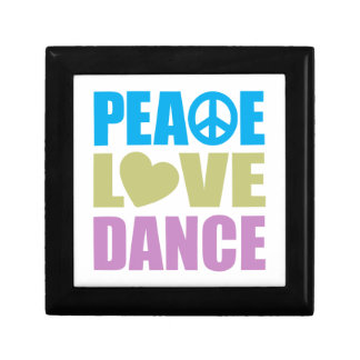 Peace Love Dance Small Square Gift Box
