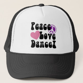 Peace, Love, Dance Trucker Hat