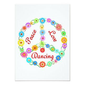 "Peace Love Dancing 5"" X 7"" Invitation Card"