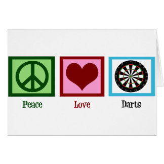 Peace Love Darts Card