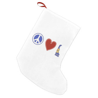 Peace Love Delaware Small Christmas Stocking
