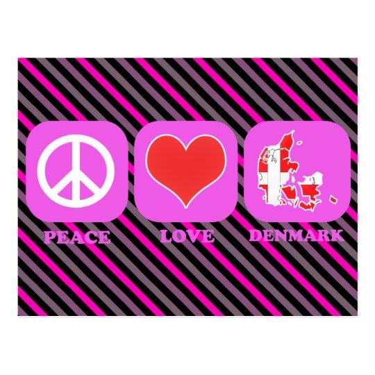 Peace Love Denmark Postcard