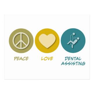 Peace Love Dental Assisting Postcard