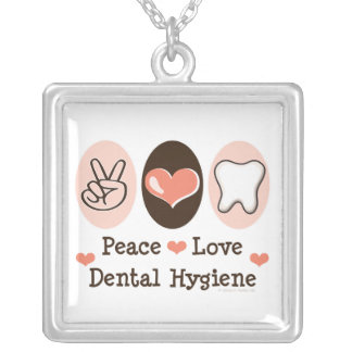 Peace Love Dental Hygiene Necklace