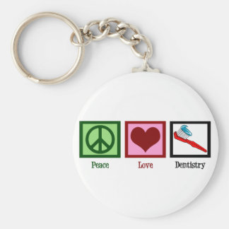 Peace Love Dentistry Key Ring