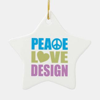 Peace Love Design Christmas Ornament