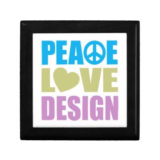 Peace Love Design Small Square Gift Box