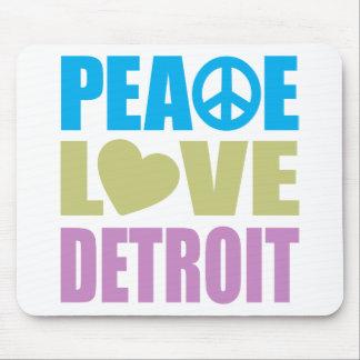 Peace Love Detroit Mousepads