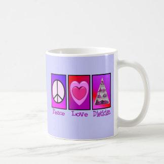 Peace Love Dietician Coffee Mug