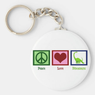 Peace Love Dinosaurs Key Ring