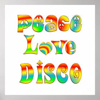 Peace Love Disco Poster